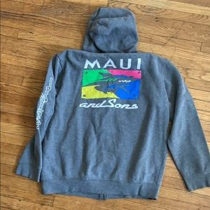 Maui and sons sweater gray size XL kids